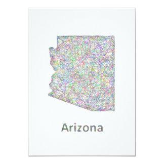 """Mapa de Arizona Invitación 4.5"""" X 6.25"""""""