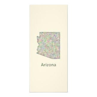 """Mapa de Arizona Invitación 4"""" X 9.25"""""""