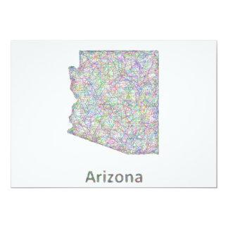 """Mapa de Arizona Invitación 5"""" X 7"""""""