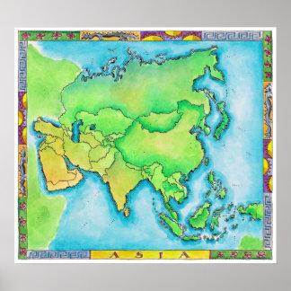 Mapa de Asia 2 Impresiones