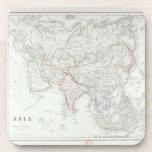 Mapa de Asia 2 Posavasos De Bebida