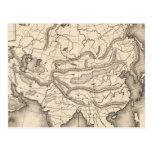 Mapa de Asia 2 Postal