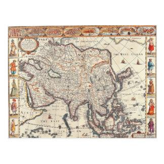 Mapa de Asia 3 Postal