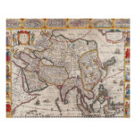 Mapa de Asia 4 Póster