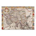 Mapa de Asia 4 Tarjeta De Felicitación