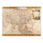 Mapa de Asia 5 Postal