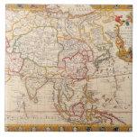 Mapa de Asia 5 Tejas Cerámicas
