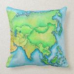 Mapa de Asia Cojin