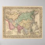 Mapa de Asia de Mitchell Impresiones