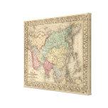Mapa de Asia de Mitchell Impresión En Lienzo Estirada