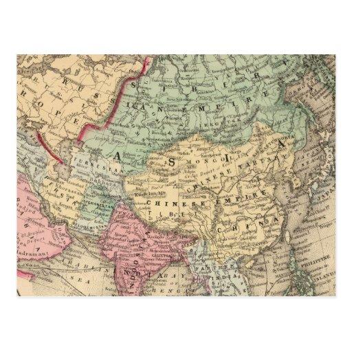 Mapa de Asia de Mitchell Postal