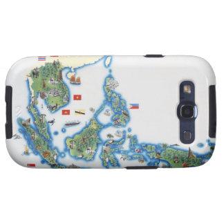 Mapa de Asia del sudeste Samsung Galaxy S3 Carcasa