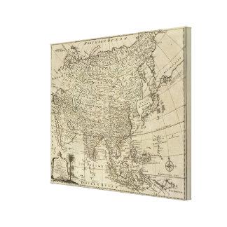 Mapa de Asia Lona Estirada Galerías