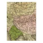 Mapa de Asia Olney Postales
