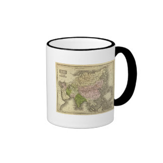Mapa de Asia Olney Tazas De Café