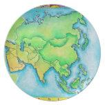 Mapa de Asia Platos