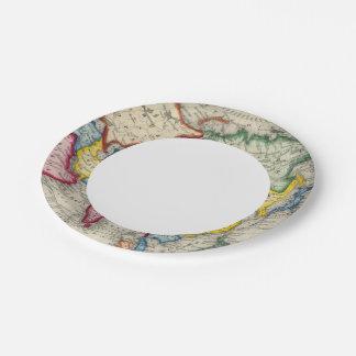 Mapa de Asia Platos De Papel
