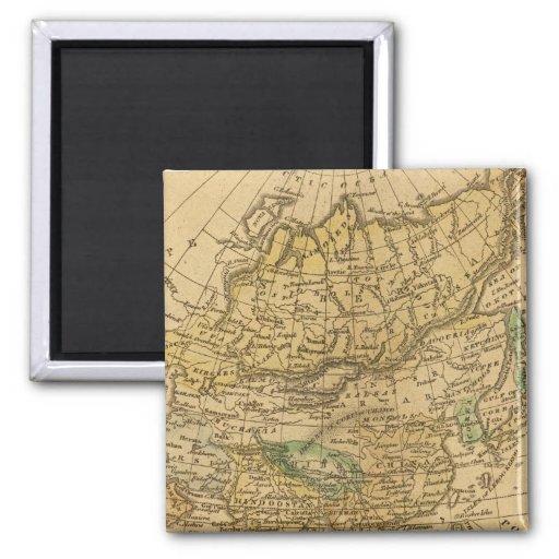 Mapa de Asia por Worcester Imán Cuadrado