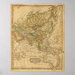 Mapa de Asia por Worcester Póster