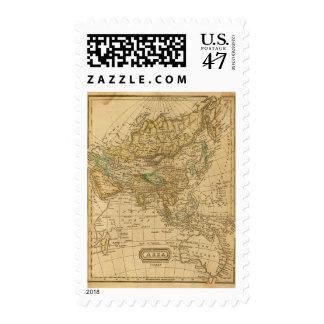 Mapa de Asia por Worcester Sellos