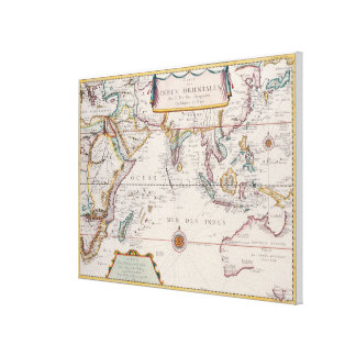 Mapa de Asia sudoriental 2 Impresión En Lienzo