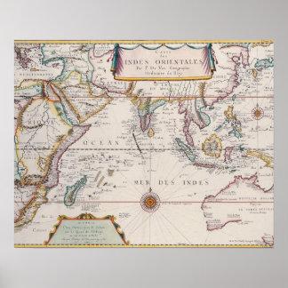 Mapa de Asia sudoriental Poster