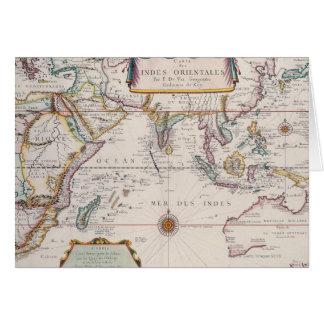 Mapa de Asia sudoriental Felicitación