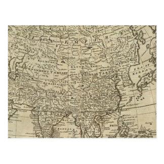Mapa de Asia Tarjeta Postal