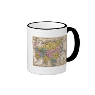 Mapa de Asia Taza A Dos Colores