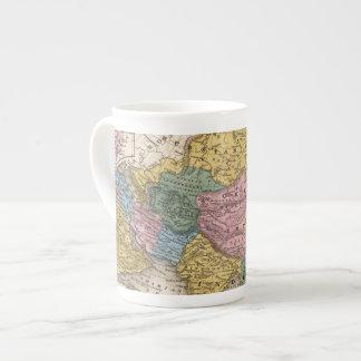 Mapa de Asia Taza De Porcelana