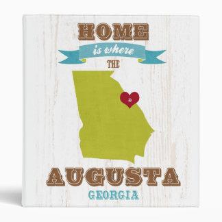 Mapa de Augusta Georgia - casero es donde está el