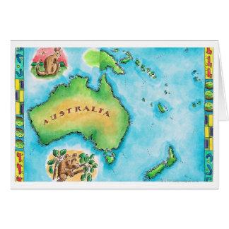 Mapa de Australia 2 Tarjeta De Felicitación