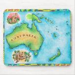 Mapa de Australia Alfombrilla De Raton
