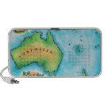Mapa de Australia Altavoces De Viaje