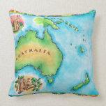 Mapa de Australia Cojín Decorativo