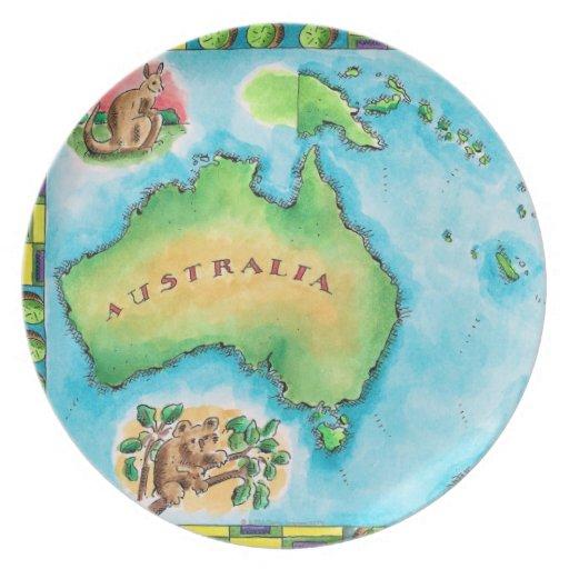 Mapa de Australia Platos