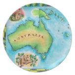 Mapa de Australia Platos De Comidas