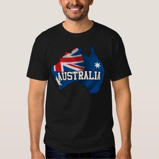 Mapa de Australia Poleras
