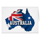 Mapa de Australia Tarjeta De Felicitación