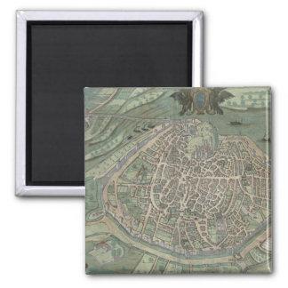 "Mapa de Aviñón, de ""Civitates Orbis Terrarum"" cerc Imán"