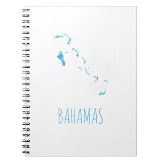 Mapa de Bahamas Libros De Apuntes