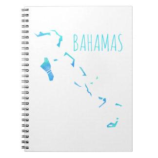 Mapa de Bahamas Libros De Apuntes Con Espiral
