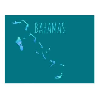 Mapa de Bahamas Postales
