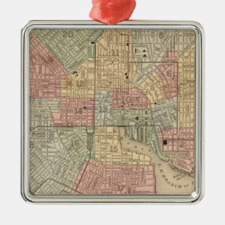 Mapa de Baltimore de Mitchell Ornamentos De Navidad
