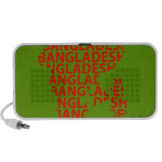Mapa de Bangladesh con el texto dentro iPod Altavoces