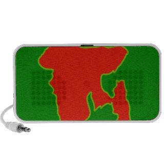 Mapa de Bangladesh con en colores rojos y verdes Mp3 Altavoz