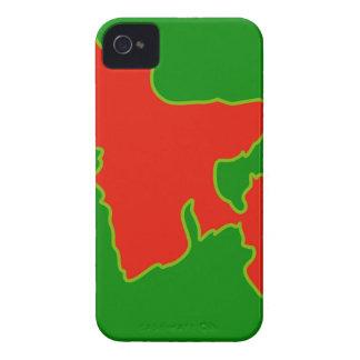 Mapa de Bangladesh con en colores rojos y verdes iPhone 4 Case-Mate Funda