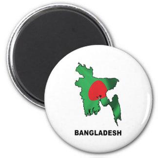 Mapa de Bangladesh Imán Redondo 5 Cm