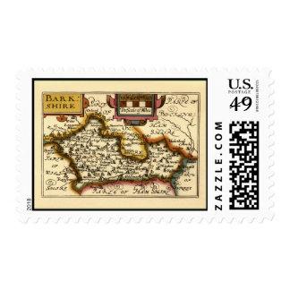 """Mapa de """"Barkshire"""" el condado de Berkshire, Sello"""