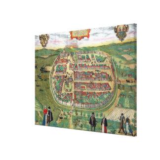 """Mapa de Barth, de """"Civitates Orbis Terrarum"""" por G Impresion De Lienzo"""